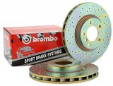 Brembo Cross Drilled Rear Rotors EVO 8