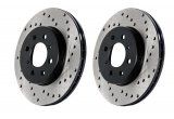 StopTech Cross Drilled Supra TT Rotors for 2GS LS430 Rear Kit