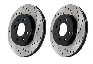 StopTech Cross Drilled IS-F Rotors for LS460 Upgrade Brake Kits